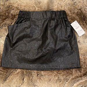 Zara Basic Faux Leather Mini Skirt